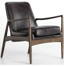 modern leather chair. Free Shipping; Braden Leather Chair, Durango Smoke Modern Chair