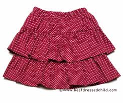 Glorimont Size Chart Glorimont Girls Red White Dots Tiered Skirt