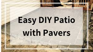 easy diy patio with pavers this