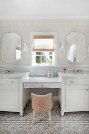 vanity with makeup counter. Brilliant Makeup White Marble Top Vanity With Wooden Cabinet Under Two Sinks  And Make Up For Vanity With Makeup Counter H