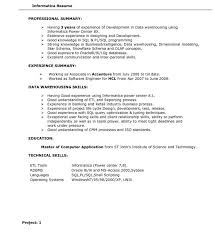 ... Beautiful Informaticaume Sample Testing Administrator For Years Experience  Informatica Resume 1152 ...