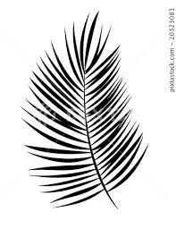 Palm Leaf Vector Background Illustration Stock Illustration