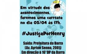 Caso Henry: Pai organiza carreata para pedir justiça pela morte do filho |  Rio de Janeiro