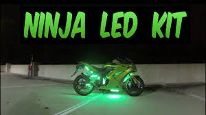 Led Lights For Ninja 250r Ledglow Lights 2012 Ninja 250r Advanced Million Color Motorcycle Led Lighting Kit