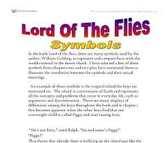 lord of the flies symbols gcse english marked by teachers com document image preview