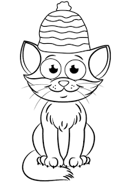 Christmas Cat Coloring Page Free Printable Pages Swifteus