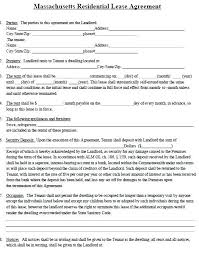 Residential Lease Contract Apartment Rental Contract Template
