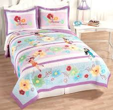 disney fairies tinker bell pixie purple full queen quilt 2 shams bedding set