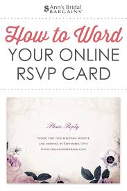 How To Reply To Wedding Rsvp Card Response Card Wording Examples For Online Rsvps