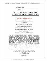 private placement memorandum templates word pdf private placement memorandum template 09