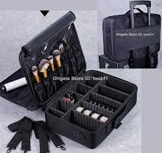 whole high quality professional makeup organizer cosmetic case travel large train storage handbag for airbrush makeup
