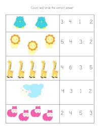 free printable math worksheets for preschool and kindergarten ...