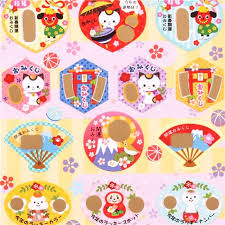 Cute Japanese Stickers Scratch Stickers Happy New Year