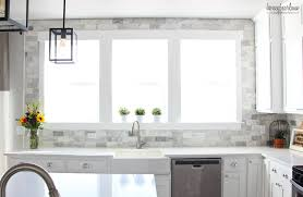 How To Install Backsplash Tile In Kitchen Impressive My DIY Marble Backsplash Honeybear Lane