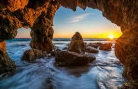 ocean sunrises and sunsets usa malibu crag nature wallpaper