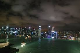 Infinity pool night Picture of Marina Bay Sands Singapore
