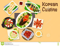 Korean Cuisine Seafood Dinner Dishes ...