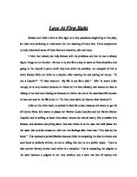 romeo and juliet love essay co romeo and juliet love at first sight gcse english marked by