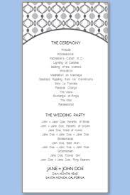 Wedding Program Templates Free Printable Wedding Program Templates