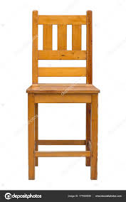 wooden chair front view. Front View Of Wooden Chair Isolated On White With Clipping Path \u2014 Stock Photo A