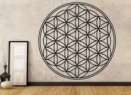 flower of life vinyl wall decal sacred geometry wall art
