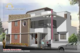 duplex house plan and elevation 2741 sq ft indian home decor