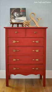 Painting Furniture Best 25 Red Painted Dressers Ideas Only On Pinterest Red