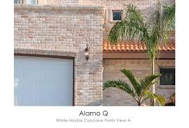 Alamo Q White Mortar Concave Finish View A.