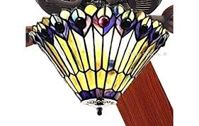 stained glass ceiling fan. 52\u2033 Jeweled Peacock Globe Tiffany Stained Glass Ceiling Fan A