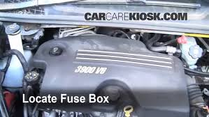 interior fuse box location 2005 2008 chevrolet uplander 2008 blown fuse check 2005 2008 chevrolet uplander