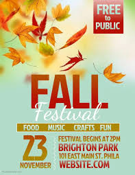 Fall Flyer Fall Festival Flyer Template Event Template Festival