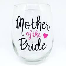image 0 mother of the bride wine glass vintage stemless