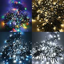 White Led Tree Lights Details About Led Christmas Lights Timer Memory Mains Cluster White Multicoloured Xmas Party