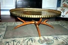 brass tray coffee table round over inch extra large moroccan stand
