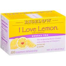 I <b>Love</b> Lemon <b>Herbal Tea</b> - Case of 6 boxes- total of 120 teabags