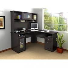 red black home office. Living Room Black L Shaped Modern Home Office Desk With Drawer And Locker For Storage Idea Red