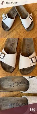 Birkis Off White Slide Sandals Size 6 6 5 N Vgc Birkis By