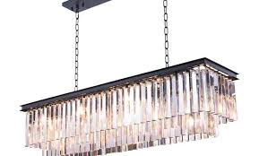 odeon glass fringe rectangular chandelier gallery closeout