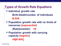 19 ap biology types of growth rate equations individual growth