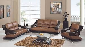 Leather Living Room Sets For 982 Modern Living Room In Tan Brown Leather By Global