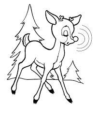 Small Picture Rudolph The Red Nosed Reindeer Coloring Page Coloring Home
