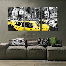 black yellow wall art