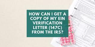 my ein verification letter 147c from