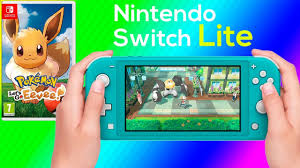 Pokemon Lets Go Eevee Nintendo Switch Lite Gameplay - YouTube