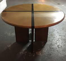 vintage round dining table 1970s