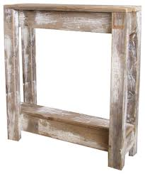 Doug and Cristy Designs - Distressed Square Accent Table - Console Tables
