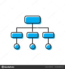 Organization Chart Vector Organizational Chart Vector Icon Concept Isolated On White