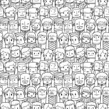 People Pattern Delectable Seamless People Pattern Wall Mural Pixers We Live To Change