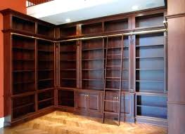 bookcase with ladder and rail library ladders shelves rolling bookcases drawers uk lad