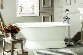 chadwick cast iron roll top tub 60 white with no faucet holes